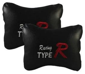 Gromaa  Tyre Blk.100 Car Tyre R Black Color Pillow Pack of 2 For Tata Tiago