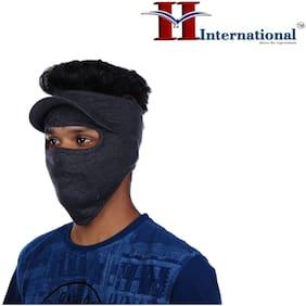 H International Spandex Grey Color Riding Face Mask