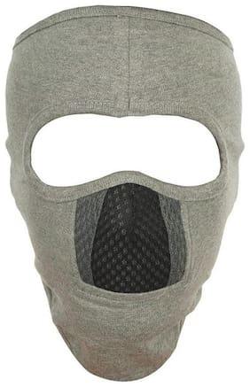 H-Store Ninja Melange Grey Black Grey Unisex Balaclava Lycra Face Mask, Bike Riding Mask