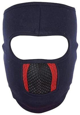 H-STORE Spandex Black::Red Color Riding Face Mask