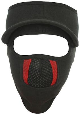 H-Store Unisex Lycra Face Mask,Bike Riding Mask, Cap Black