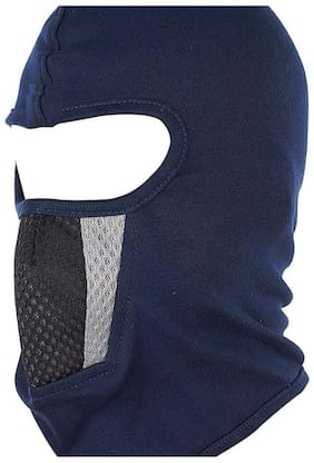 H-Store Unisex Balaclava Lycra Face Mask,Bike Riding Mask, Full Blue