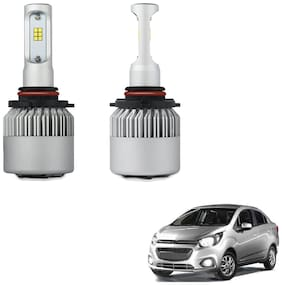 H4 6000K Car LED Headlight Bulb Pair for Cheverolet Beat