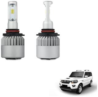 H4 6000K Car LED Headlight Bulb Pair for Mahindra Scorpio