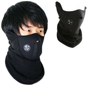 Half Face Bike Riding Mask (Black)