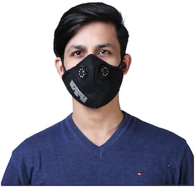 Half Face Black Pollution Mask with  2 Air Filters
