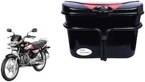 Hero HF Deluxe Vivo Black Red Side Box Luggage Box for Extra Luggage for Bikes