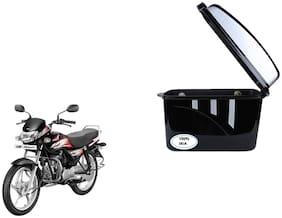 Hero HF Deluxe Dua Trendy Black Silver Side Box Extra Luggage Box