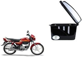 Hero Honda CD Dwn Dua Trendy Black Silver Side Box Extra Luggage Box