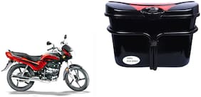 Hero Passion Plus Vivo Black Red Side Box Luggage Box for Extra Luggage for Bikes
