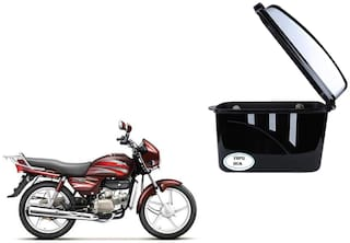 Hero Splendor Plus Dua Trendy Black Silver Side Box Extra Luggage Box