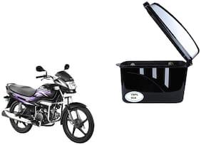 Hero Super Splendor Dua Trendy Black Silver Side Box Extra Luggage Box