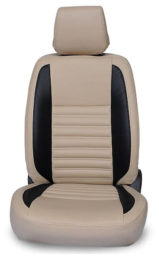 Hi Art Beige/Black Leatherite Seat covers Maruti Eeco 7-Seater - Champion Series
