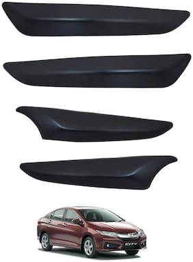 Hi Art Car Custom Fit Bumper Scratch Protectors for Honda City (2014-2016);Set of 4