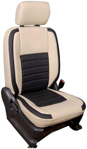 Hi Art Leatherite Car Seat Covers For Maruti Swift Dzire (Beige & Black)