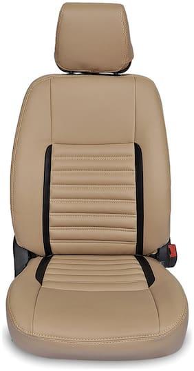 Hi Art Leatherite Seat Covers Beige/Black [Complete Set] Mahindra Scorpio 9 Seater - Champion Series