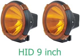 Hid Xenon Fog Light 9 inch Powerful Lamps 1000 Meter Work Light For All Cars And Suv With Yellow Cover Off Road 1Km Range;Set Of 2