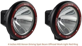 Hid Xenon Fog Light 4 inch Lamp 1000 Meter Work Light For All Cars And Suv With Yellow Cover Off Road 1Km Range;Set Of 2