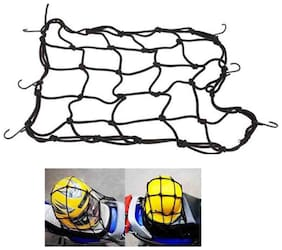 High Quality Bike Motorcycle / Cycle / Scooter Cargo Bungee Net - Black