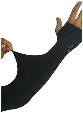 High Quality Without seam sleeve for men and women-Let's Slim Arm sleeve(Size:Free Black)
