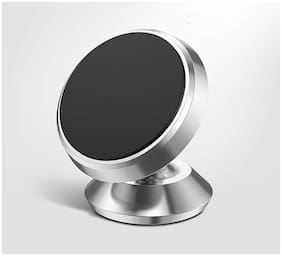 HIKER Universal Magnetic Mobile Holder with 360 Rotating for all smartphone (SILVER)