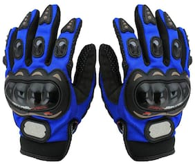 HMFURRYS FINEST Probiker Full Riding/Driving/Cycling Sports Gloves/Riding Gear Riding Gloves (Free , Blue)