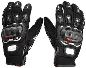 HMFURRYS FINEST Probiker Racing Equipment Motorcycle Driving Gloves (Free Size, Black)