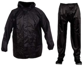 HMS 100% waterproof Polyester Rain suit top and Bottom set for Two wheelers/ biker (with carrying Bag)