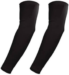 HMS BLACK ANTI UVA WASHABLE BLACK ARM SLEEVES (SET-2)