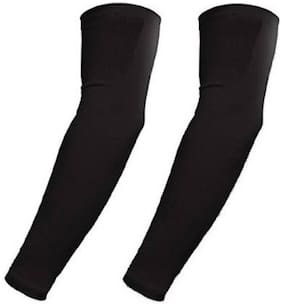 HMS BLACK UNIVERSAL UNISEX SUNLIGHT PROTECTION BLACK ARM SLEEVES (SET-2)