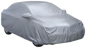 HMS CAR BODY COVER WITH MIRROR POCKET FOR CITY - COLOUR SILVER