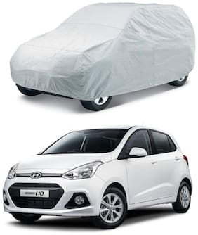 HMS CAR BODY COVER FOR GRAND I10-COLOUR SILVER