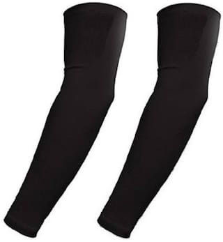 HMS UNISEX  LIGHT WEIGHT BLACK ARM SLEEVES (SET-2)