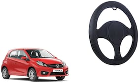 Honda Brio Net Design Smooth Touch Black Steering Cover