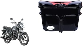 Honda CB Shine Side Box Extra Luggage Box Vivo Black Red Box for Bikes