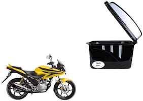Honda CBF Stunner Dua Trendy Black Silver Side Box Extra Luggage Box