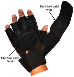 HOT NEW !! STYLISH LIFESTYLE QUALITY LEATHER BLACK GYM BIKE GLOVES