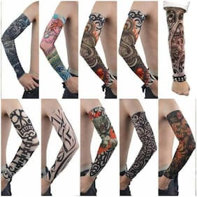 HOZIE Tattoo Cotton Arm Sleeve For Men & Cool Guys (Pack Of 6 Pair)