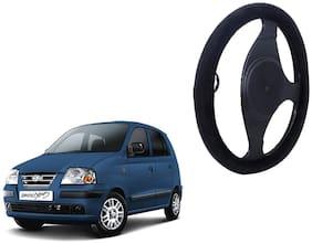 Hyund Santro Xing Steering Cover Black Velvet Touch