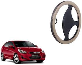 Hyundai Accent Steering Cover biege Colour Dual Leatherite Design