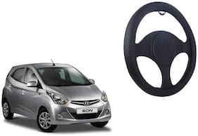 Hyundai Eon Net Design Smooth Touch Black Steering Cover