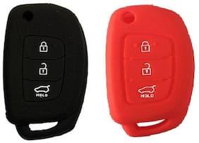 Hyundai i 20 New Car Key Cover Red Black
