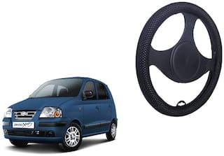 Hyundai Santro Xing Netted Black Steering Cover