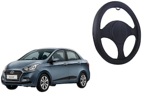 Hyundai Xcent Net Design Smooth Touch Black Steering Cover