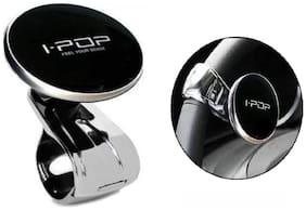I Pop Car Steering Wheel Power Holder Knob Spinner for Cars (Pack of 1) Black Color