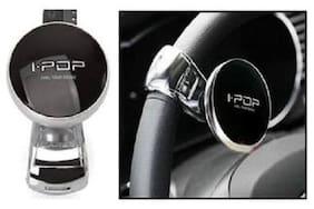 I-Pop Car Steering Wheel  Knob Black For  Maruti Suzuki Alto 800