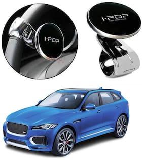 I-POP Simple Mini Power Handle Steering Wheel Spinner Knob for Cars (Pack of 1) Black Color