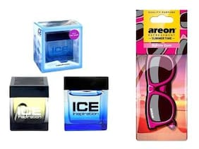Ice Inspiration Car Air Freshener - 60 ml + Areon Summer Time Bubble Gum Car Hanging Perfume