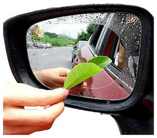 IMMUTABLE 2 pc Car Rainproof Anti Fog Film Protective Rearview Mirror Clear Foil Auto Anti Mist Window Film Protector