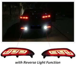 Immutable Reflector Led Brake Light Bumper(Rear/Back) Drl Compatible With Hyundai I20 Elite t23